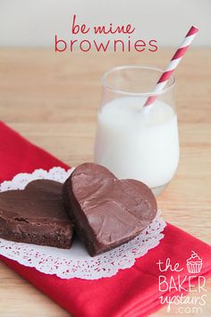 make Be Mine valentine brownies