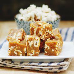 Salted Popcorn Peanut Butter Fudge