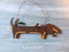 Chocolate Dachshund Christmas Ornamet Doxie by MaxMinnieandMe