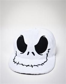 Nightmare Before Christmas 'Jack Face' Furry Flatbill Hat Black Snapback, Snapback Cap, Ear Hats, Beanie Hats, Beanies, Gag Gifts, Funny Gifts, Disney Ears Hat, Painted Hats