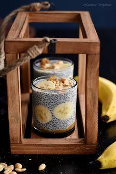 Pudding chia z bananem i masłem orzechowym | Nastoletnie Wypiekanie