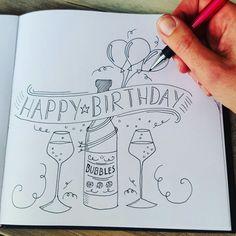 Handletteren Workshop 5 En 20 April Studiosuznl Happy Birthday Doodles