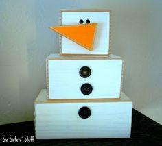 Wooden 4 x 4 Snowman Craft Tutorial | Six Sisters' Stuff