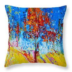 Forest Landscape No 4 Throw Pillow by Patricia Awapara  #throwpillow #homedecor
