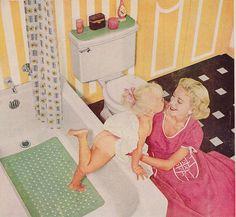 Mid century Rubbermaid ad for no slip bath liner 1955 Retro Advertising, Vintage Advertisements, Vintage Ads, Vintage Prints, Vintage Pictures, Vintage Images, Pin Up, Vintage Housewife, Deco Retro