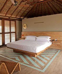 Une villa mexicaine avec une belle chambre sous combles