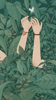 Art And Illustration, Butterfly Illustration, Dark Art Illustrations, Cute Cartoon Wallpapers, Animes Wallpapers, Aesthetic Iphone Wallpaper, Aesthetic Wallpapers, Aesthetic Art, Aesthetic Anime