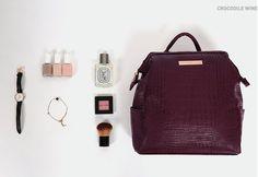 Mini Crocodile Pattern Leather Backpack v1