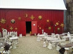 Wide selection of memorial benches at Nagels Nursery off Interstate 35 in Minnesota, near Owatonna.