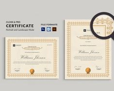 Corporate & Modern Certificate Template. Use this Certificate Template in your business, company or institution in completion of any course, training, degree or job. Also, you can use this Multipurpose Certificate Template as award giving certificate, certificate of excellence, certificate of appreciation, Certificate Format, Printable Certificates, Certificate Design, Certificate Templates, Resume Templates, Certificate Of Appreciation, Certificate Of Achievement, Change Image, Cover Letter For Resume
