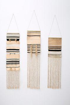 Colgantes tejidos a mano por Justine Ashbee