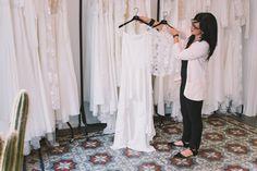 vestidos de novias en barcelona Barcelona, Rime Arodaky, Wardrobe Rack, Showroom, Brides, Bridal Gowns, Bridal Collection, Wedding, Barcelona Spain