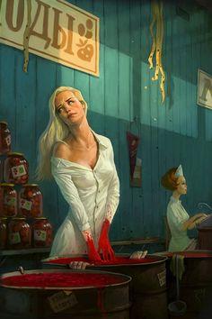 Fantastic Illustrations by Waldemar von Kozak