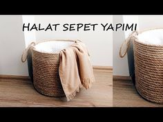 Kendin Yap – Halat Sepet Yapımı You know the rope, don't say what happens. You can produce highly functional DIY projects from the rope. One of these is the production of rope baskets. Wicker Headboard, Wicker Bedroom, Wicker Shelf, Wicker Baskets, Wicker Trunk, Wicker Purse, Wicker Mirror, Wicker Planter, Wicker Table