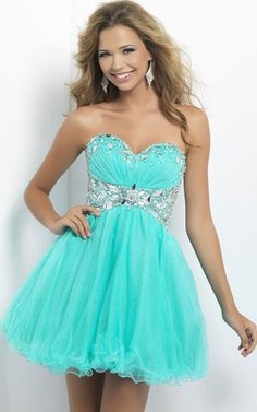 Strapless Embellished Waist Blush 9679 Short Aqua Party Dress [Blush 9679 Short Aqua Homecoming Dress] - $126.00 : Fashion Cheap Homecoming Dresses for Girls at homecomingdressesfashion.com