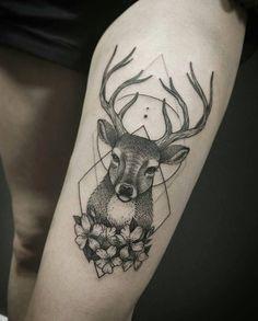 "693 Likes, 12 Comments - ⠀⠀⠀⠀⠀⠀⠀Artist.Tattooer (@ira_deer) on Instagram: ""Олень для Ксюши✨ #713club #deer #deertattoo #dotworktattoo #blacktattoo #blackwork #blxckink…"""
