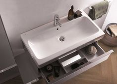 Geberit iCon Washbasin #Geberit #Bathroom #Washbasin
