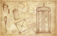 The Tardis & Doctor Who Vintage Style by AwkwardAffections on Etsy, $20.00