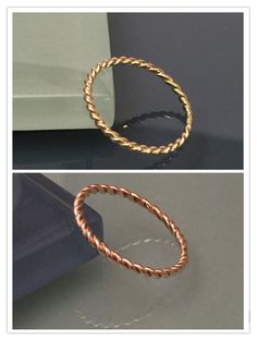 14k SOLID Gold Twist Rope Ring - Gold Stacking Ring by EllynBlueJewelry on Etsy https://www.etsy.com/listing/230268288/14k-solid-gold-twist-rope-ring-gold