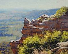 Blue Mountains Lithgow, NSW. Paintings by Graham Gercken (artaus on deviantART) are all in Oil on linen canvas using both brush and palette knife.