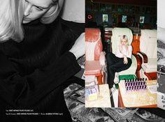 Stories Collective / I wanna fold you / Photography Lukasz Wierzbowski /Styling Beata Wilczek / Hair & Make Up Jana Kalgajeva & Alicia Wilkosz / Model Ella Plevin / Design Sarah Le Donne #editorial #youth #blonde #fold #layout #design