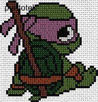 Donatello EN PUNTO DE CRUZ