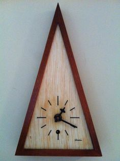 Funky Mid Century Modern Triangle Clock.  Can you tell I love clocks yet???  -- SOLD