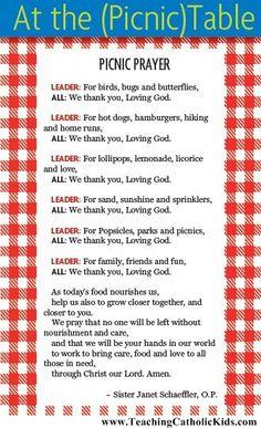 A Picnic Prayer