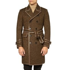 SICK!!!! Burberry Prorsum Wool-Blend Herringbone Tweed Trench Coat |  Men's Fashion