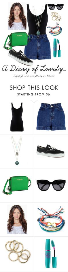 """""""Suh suh suuuumer"""" by kaluli91 ❤ liked on Polyvore featuring iHeart, River Island, Vans, MICHAEL Michael Kors, CÉLINE, Pura Vida and Maybelline"""