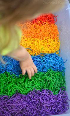 BEAUTIFUL Rainbow sensory play - Colorful squishy FUN!