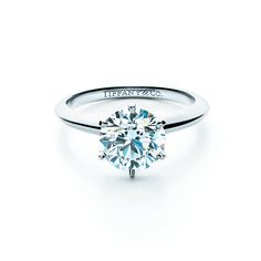 The Tiffany® Setting with a diamond of legendary brilliance. #TiffanyPinterest #TiffanyWeddings #Ring