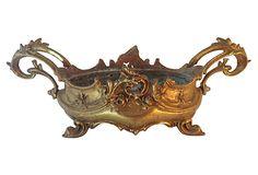 Gilt Metal Baroque-Style Planter on OneKingsLane.com