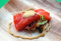 cured new zealand king salmon with jicama, lotus root chips, and curry remoulade