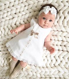 Cute baby girl dress Solid Bow Lace Tulle Party Princess Dress Clothing Pink White Dress for Toddler Kid bebek elbise robe bebe So Cute Baby, Cute Baby Clothes, Cute Babies, Cute Baby Dresses, Babies Clothes, Newborn Baby Girl Dresses, Girls Dresses, Babies Stuff, Newborn Outfits