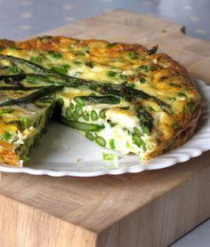 Asparagus and pea frittata