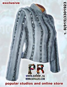 """Modern mink fur genuine lather jacket for woman""""Avgustina"""" Available. Size XS. Price was $2500, now $570 Shipping $29"""