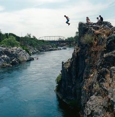 Cliff Jumping in Sacramento. Photo: William Mark Sommer (Auburn, CA.)