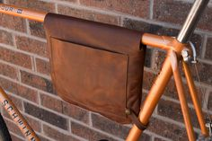 Leather bicycle frame bag / shoulder bag Bikegab by Bikegab