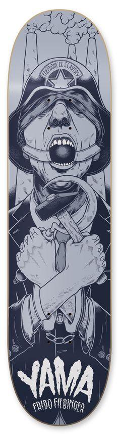 yama skateboards on Behance