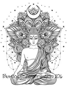 Hindu Lotus Temple Adult Coloring Pages
