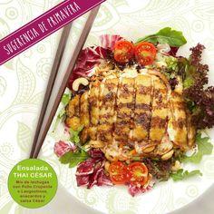 Esta semana os traemos una sugerencia potente, sana y sabrosa, nuestra #Thai #Cesar #Salad ¿Te podrás resistir? Y si la has probado ya, ¿qué te ha parecido?  www.padthaiwok.com