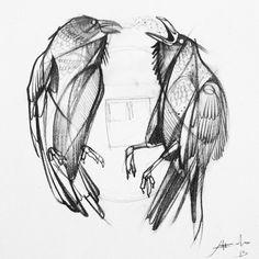 #raven #raben #corvus #kuzgun #tattoo #istanbul #dramatik