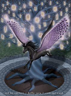 Memory - Treasures by soelver on DeviantArt Horse Art, Pegasus, Faeries, Deep Purple, Enchanted, Whale, Mystery, Royalty, Creatures