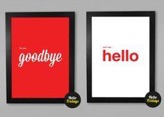 Beatles art, Art print, Hello Goodbye, Beatles poster, Beatles Quote, Room Decor, typography poster, music quote, digital, printable via Etsy