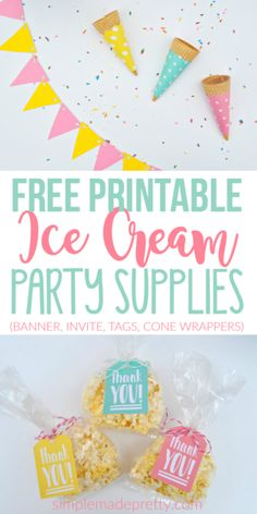 We hosted an ice cream party this summer and it was stress-free since we used these free printable supplies! If you are looking for ice cream party ideas or ice cream party decorations, you have to visit her blog!