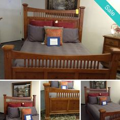 Mission Style - Mission Style Queen Size Bed - On Sale for $559.95 (was $699.95)