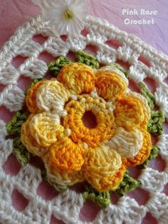 Delicadezas en crochet Gabriela: Los motivos de flores varios diseños