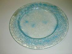 Prato em vidro redondo