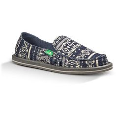 Sanuk Women's Johanna Shoe (2,760 PHP) ❤ liked on Polyvore featuring shoes, indigo, woven slip on shoes, slipon shoes, slip on shoes, sanuk footwear and sanuk shoes